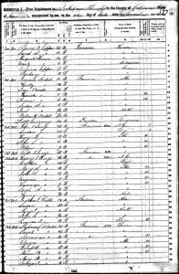 US 1850 Census of Drew County, AR