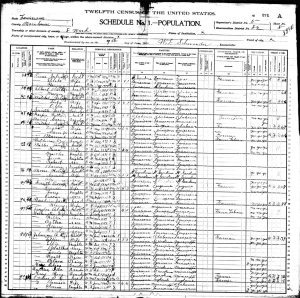US 1900 Census of Morehouse parish, LA