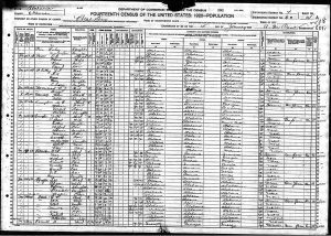 US 1920 Census of Cleburne County, AL