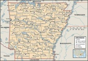 Arkansas Map of Counties