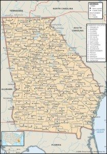 Georgia Map of Counties