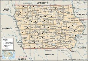 Map of Iowa Counties