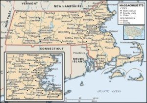 Map of Massachusetts Cities