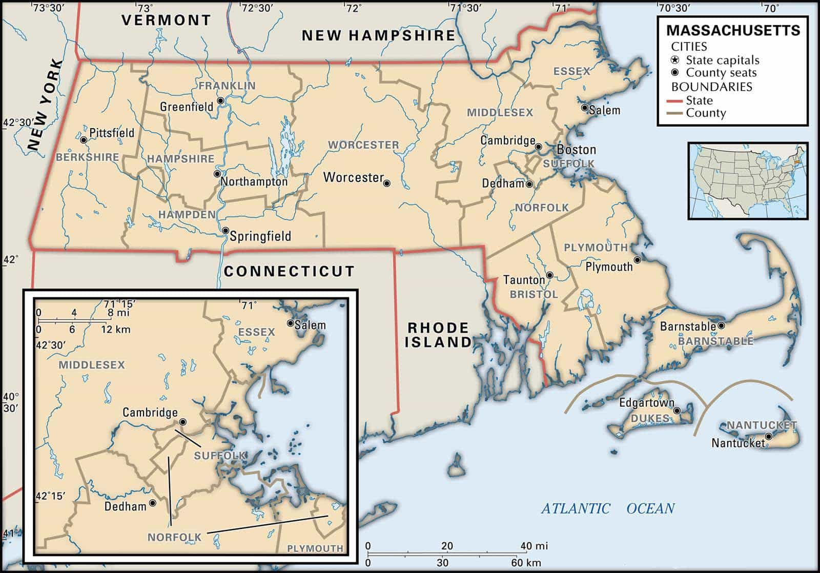 historical facts of massachusetts counties
