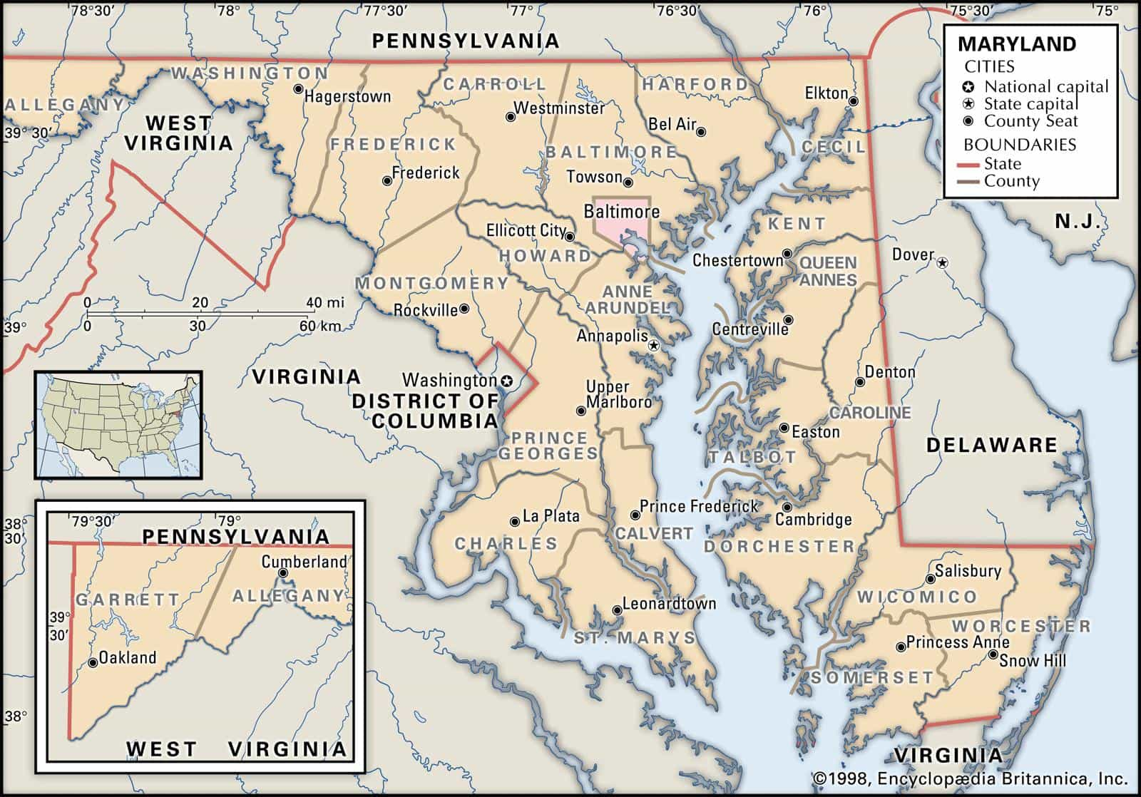 Historical Facts of Maryland Counties Guide