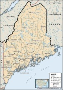 Map of Maine Counties