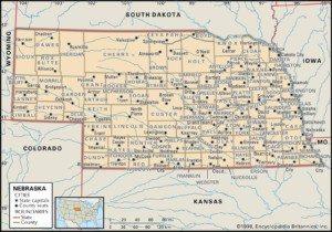 Map of Nebraska Counties