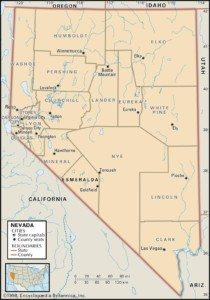 Map of Nevada Counties