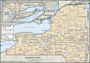 Map of New York Counties