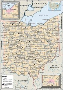 Ohio Counties Map
