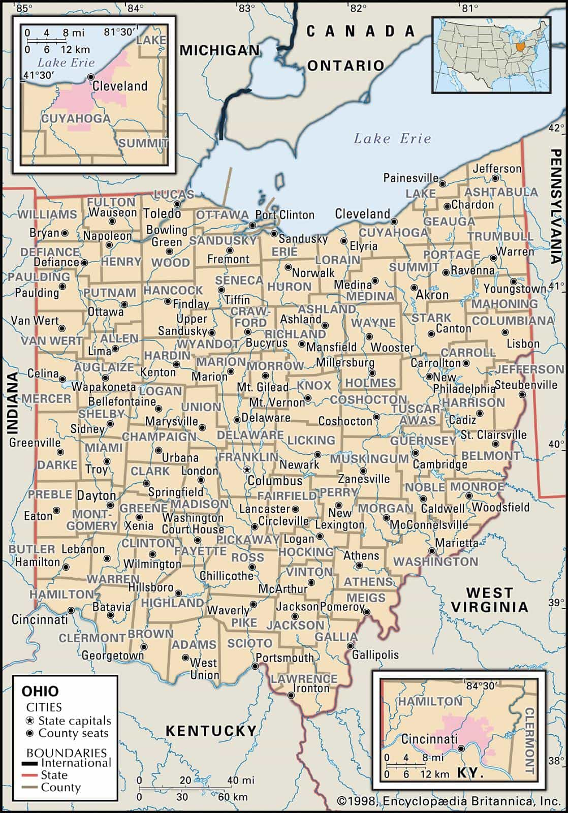 Historical Facts of Ohio Counties Research Guide