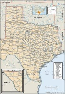 Map of Texas Counties