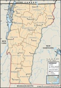 Map of Vermont Counties