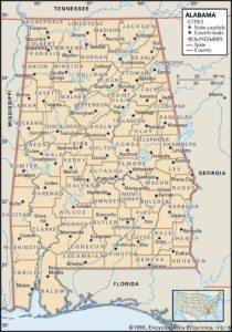 Alabama Map of Counties