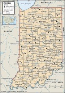 Indiana Map of Counties