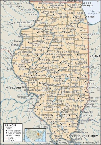 Illinois Map of Counties