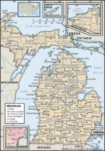 Michigan Map of Counties
