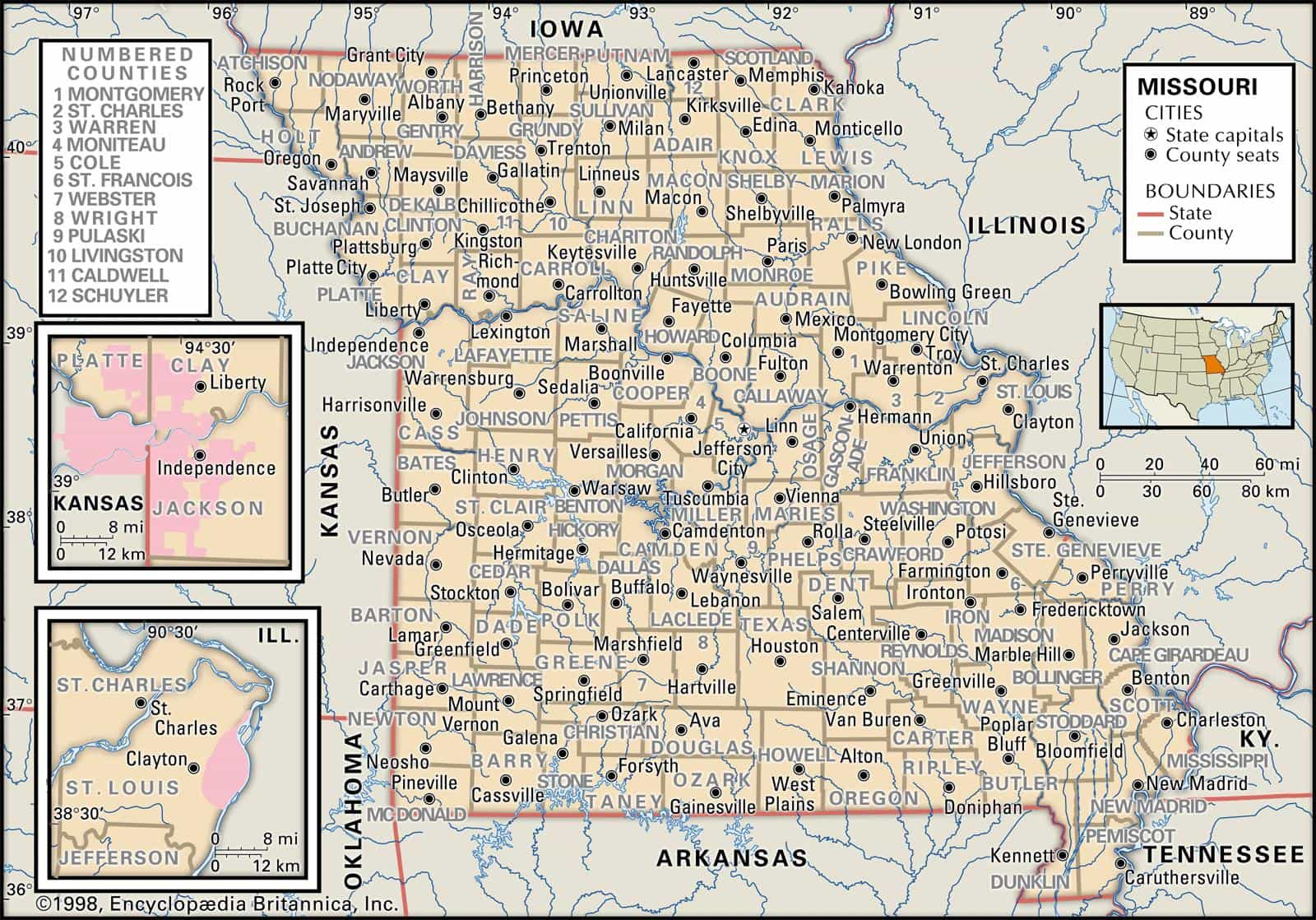 Historical Facts of Missouri Counties Guide