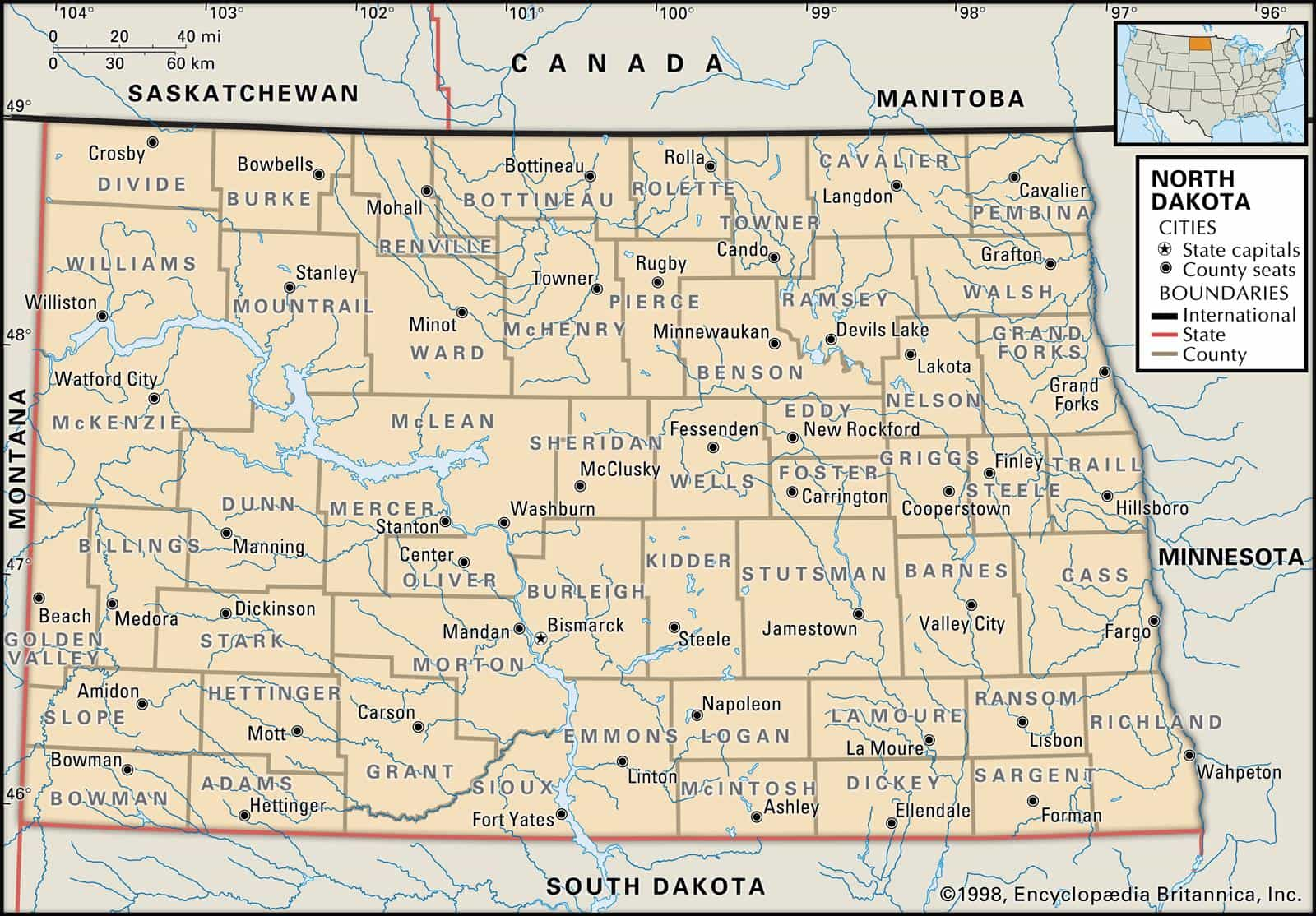 Historical Facts Of North Dakota Counties Guide