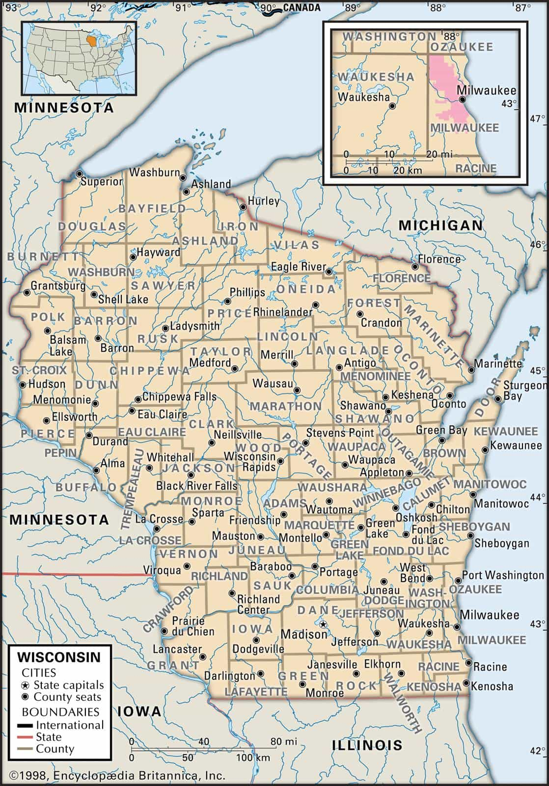 historical facts of wisconsin counties guide