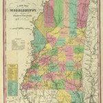 1836 Mississippi Map