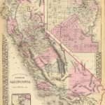 1880 California Map