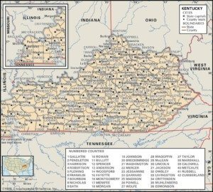 Kentucky Map of Counties
