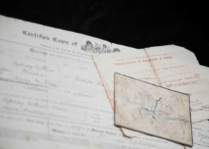 Guide to ordering and making sense of Birth, Marriage, Divorce and Death Certificates