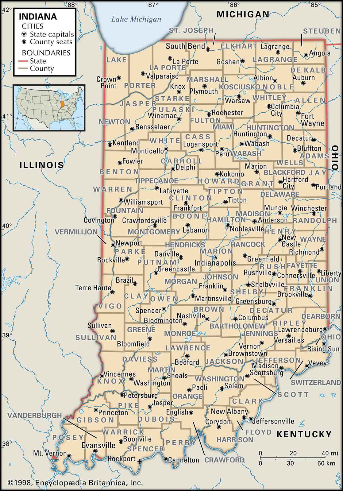 Historical Facts of Indiana Counties Guide